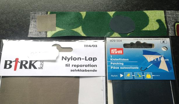 Pletter med klister fra nylonstof3