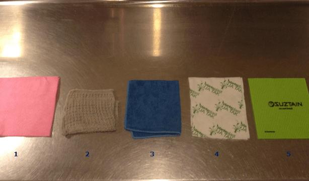 Test af karklude - De 5 testede karklude