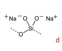 Silikater (mest anvendte - natriummetasilikat E550 -- Na2SiO3)