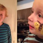 Fjern ansigtsmaling og maling fra børn